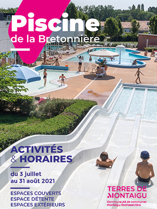 Photo de couverture : dépliant été 2021 Piscine de la Bretonnière