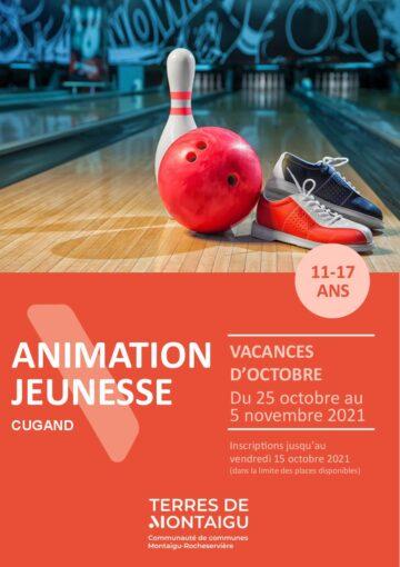 Couverture du programme des vacances d'octobre 2021 - Animation jeunesse - Cugand